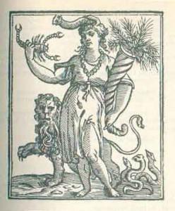 Significato del Corallo - Africa - Iconologia di Cesare Ripa - Edizione del 1618