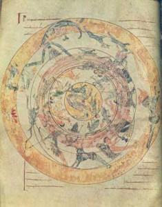 Significato del Cerchio - Carta del Cielo - Miniatura - Spagna - XII secolo