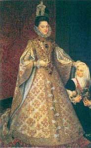 Significato del Corallo - Scuola di Sanchez de Coello - L'Infanta Isabel Clara Eugenia - 1585 circa