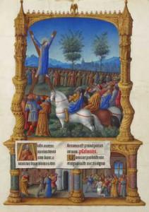 Significato della Croce - F.lli Limburg - Les très riches heures du duc de Berry - martirio di S. Andrea
