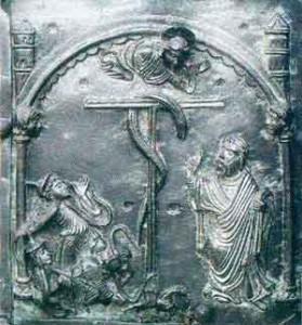 Significato della Croce - Croce a Tau - Mosè e il serpente di bronzo - portale della basilica di S. Zeno - Verona