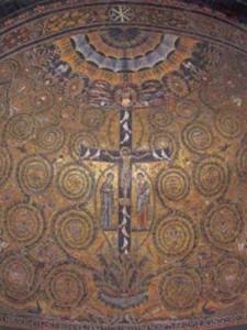 Significato della Croce - Croce Latina - Mosaico dell'abside di S. Clemente - Roma - prima metà XII sec. d.C.