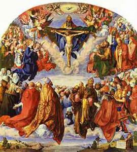 Significato del Triangolo - Albrecht Durer - Adorazione della Trinità o Pala di Ognisanti - 1511