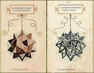 Significato dei Solidi Platonici - Luca Pacioli e Leonardo - De divina proportione - Dodecaedro Stellato