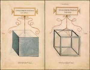 Significato dei Solidi Platonici - Luca Pacioli e Leonardo - De divina proportione - Esaedro