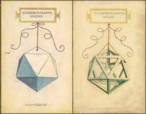 Significato dei Solidi Platonici - Luca Pacioli e Leonardo - De divina proportione - Icosaedro