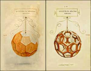 Poliedri Regolari e Semiregolari - Luca Pacioli e Leonardo - De divina proportione - Icosaedro Troncato