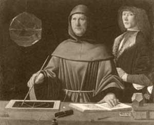 Significato dei Solidi Platonici - Presunto ritratto di fra' Luca Pacioli - De divina proportione