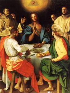 Significato del Triangolo - Jacopo Pontormo - Cena in Emmaus - 1525