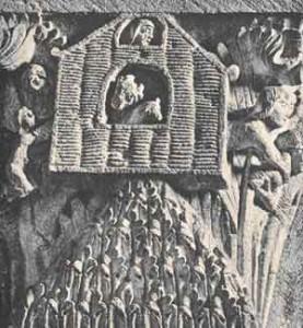 Significato del Quadrato - L'Arca e l'Ararat - Cattedrale di Autun - Francia