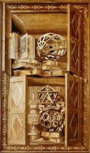 Poliedri Regolari e Semiregolari - Fra' Giovanni da Verona - Tarsia con Geode, Icosaedro e Icosaedro Troncato - S. Maria in Organo - Verona