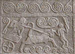Significato della Spirale - Stele Funeraria - Arte Micenea - Micene - XVI sec. a.C.