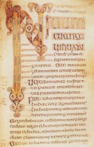 Significato della Spirale - Inizio del Vangelo di Marco - Libro di Durrow - Irlanda - seconda metà del VII sec. d.C.