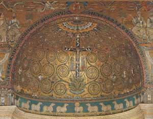 Significato della Spirale - Mosaico dell'Abside di San Clemente in Roma - prima metà XII sec. d.C.