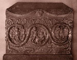 Significato della Spirale - Sarcofago di Costantina - da Santa Costanza in Roma -Arte Cristiana Egizia - 350 .ca d.C.