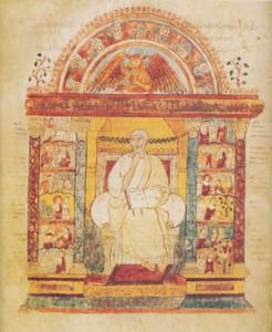 Significato della Spirale - L'Evangelista Luca - Vangeli di S. Agostino - Italia centro-meridionale - VI sec. d.C.