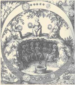 Significato del Triangolo - Le sette divinità planetarie nell'Ade - Musaeum Hermeticum - 1625