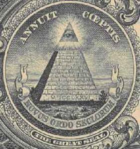 Significato del Triangolo - Triangolo come simbolo massonico - Particolare della banconota da un dollaro