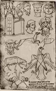 Prima della Storia dell'Arte - Pagina del Livre de Portraiture di Villard de Honnecourt