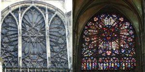 Significato del Pentagono e del Pentagramma - Rosone del transetto nord della Cattedrale di Amiens - XIII sec.