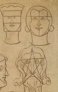 Significato del Pentagono e del Pentagramma - Villard de Honnecourt - Livre de portraiture - XIII sec.