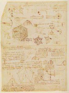 Significato del Pentagono e del Pentagramma - Leonardo da Vinci - Codice Atlantico -1514-1515