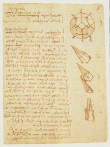 Significato del Pentagono e del Pentagramma - Leonardo da Vinci - Codice Forster I - 1505