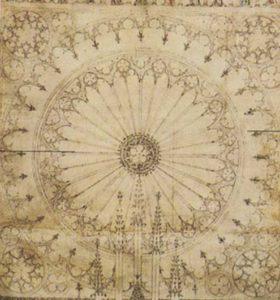Significato del Pentagono e del Pentagramma - Progetto per la Cattedrale di Strasburgo - XIV sec.